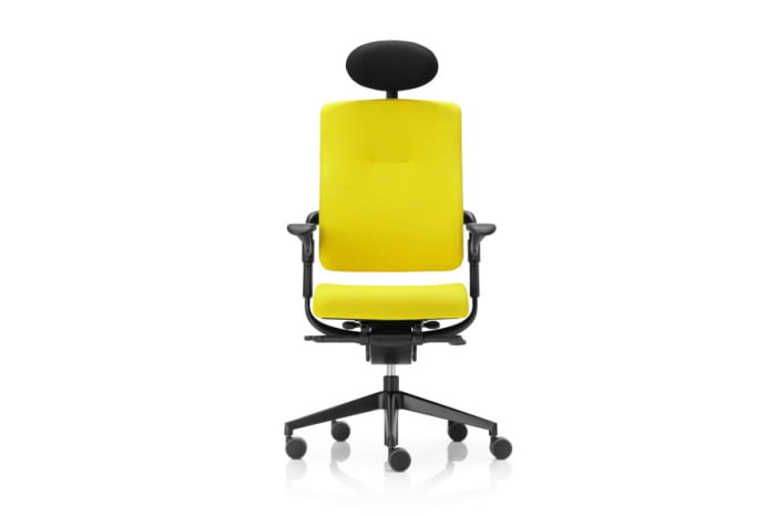 xenium comfort front headrest black yellow edit